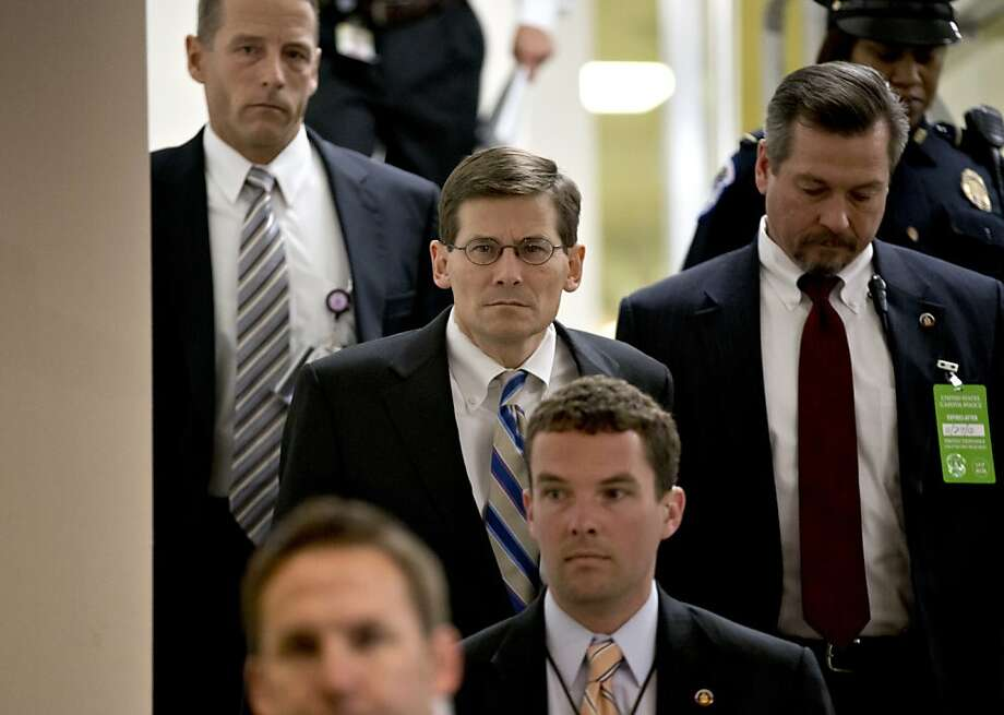 Acting CIA Director Michael Morell (center) arrives for the meeting with U.N. Ambassador Susan Rice and GOP senators. Photo: J. Scott Applewhite, Associated Press