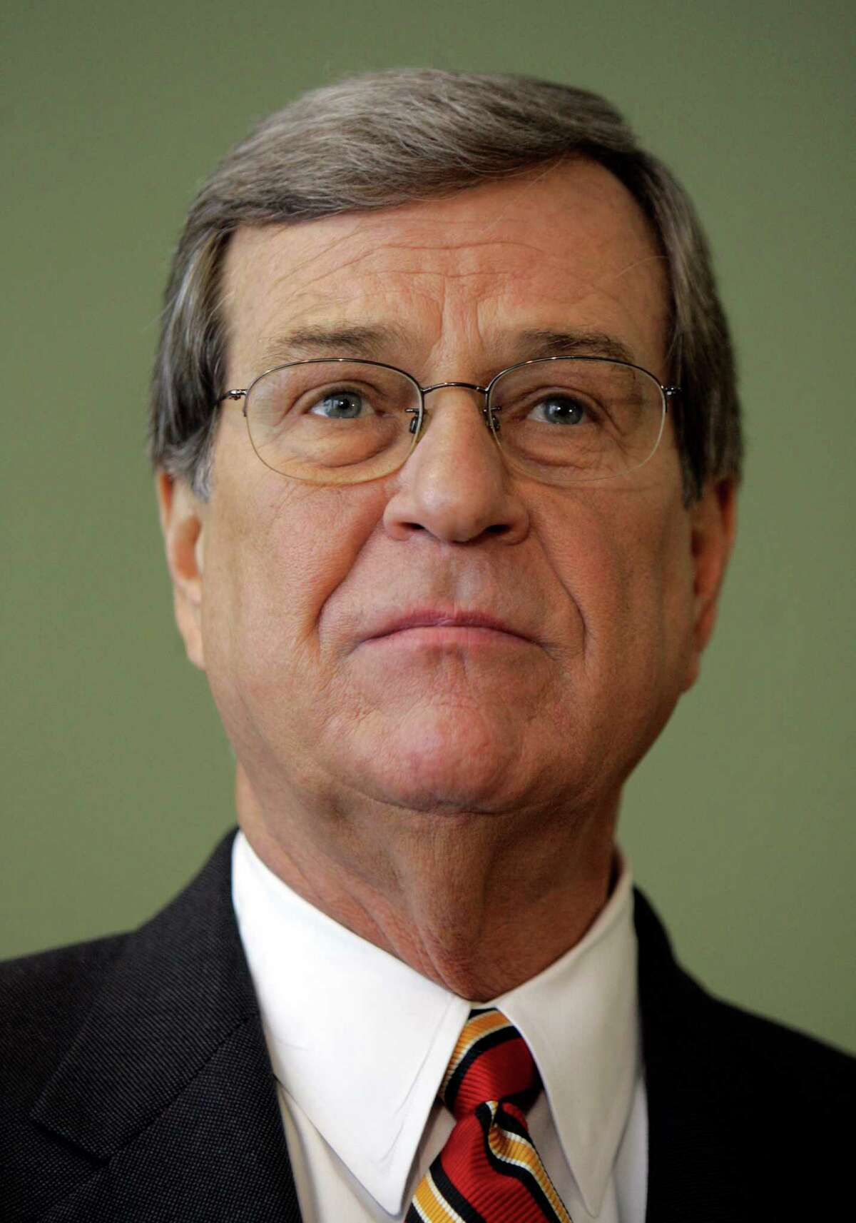 ** FILE ** Then-Sen. Trent Lott, R-Miss. is shown during a news conference in Pascagoula, Miss., in this Nov. 26, 2007 file photo. What the airline industry wants from Washington it often gets, and no wonder: Those who regulate airlines or advise lawmakers on aviation issues one day can be executives in those same companies the next _ and the other way around. (AP Photo/Alex Brandon, File)