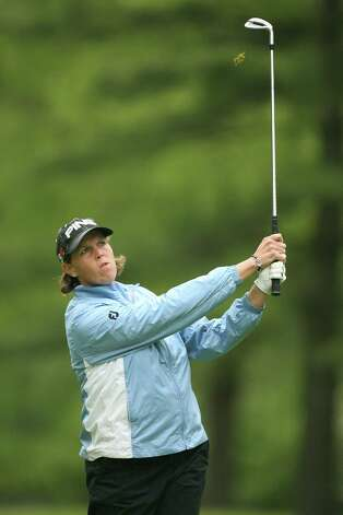 Wendy Ward hits her third shot on the 11th hole during the first round of the Sybase Classic presented by ShopRite at Upper Montclair Country Club on May 14, 2009, in Clifton, N.J. Photo: Hunter Martin, Getty Images / 2009 Getty Images