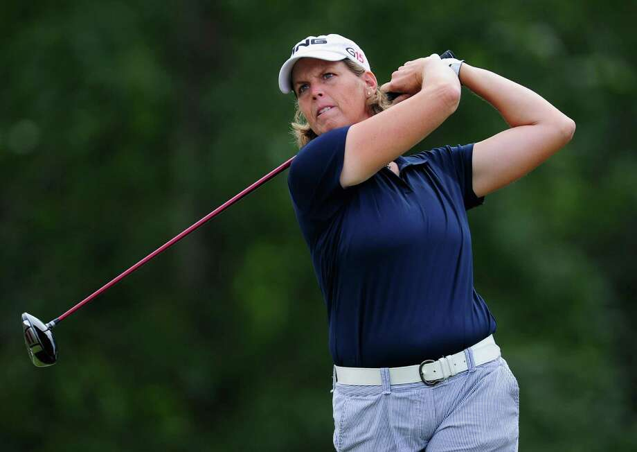 Wendy Ward of USA plays her tee shot on the 13th hole during the first round of the 2010 Evian Masters on July 22, 2010, in Evian, France. Photo: Stuart Franklin, Getty Images / 2010 Getty Images