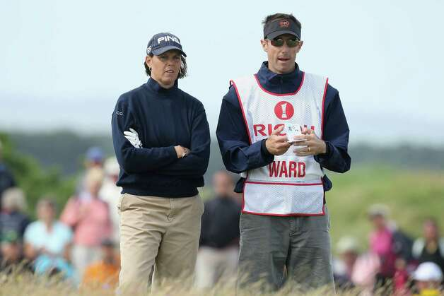 Wendy Ward of USA waits with her caddy on the 12th hole during the Third Round of the 2007 Ricoh Women's British Open held on the Old Course at St Andrews on Aug. 4, 2007, in St. Andrews, Scotland. Photo: David Cannon, Getty Images / 2007 Getty Images