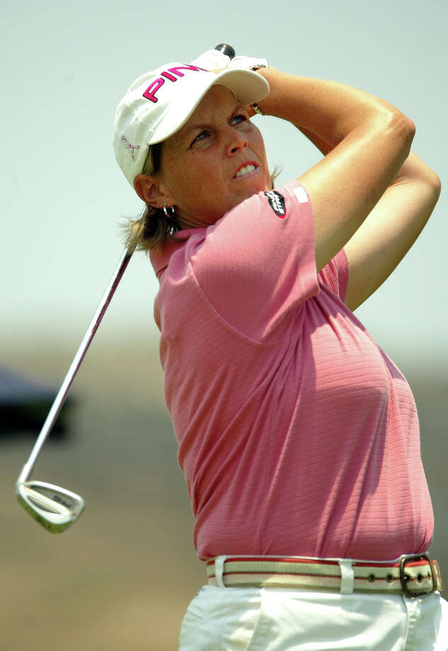 Wendy Ward, of United States, watches her tee shot on the third hole during the third round of the LPGA Corona Morelia Championship April 23, 2005, at the Tres Marias Residential Golf Club, in Morelia City, Mexico. Photo: Guillermo Arias, Associated Press / AP