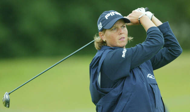 Wendy Ward of the United States plays her tee shot on the 16th during her round on the first day of the Women's British Open golf Championship at Royal Lytham and St. Annes golf course in St. Annes, England, July 31, 2003. Ward was 5 under par at the end of her round. Photo: Alastair Grant, Associated Press / AP