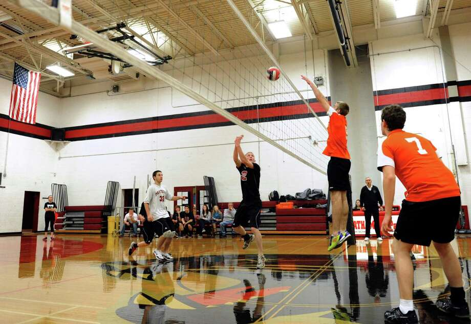 The Chatham boys' volleyball team scrimmage against New Lebanon in Chatham, NY Tuesday Nov. 27, 2012. (Michael P. Farrell/Times Union) Photo: Michael P. Farrell