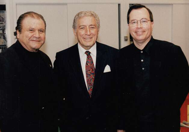 From left, Pete Bennett, Tony Bennett and Tom Cuddy at Blythedale Children's Hospital in Valhalla, N.Y., in this undated photo. Pete Bennett, a record promoter who worked with The Rolling Stones and The Beatles, and helped launch the careers of countless artists, including Aerosmith front man Steven Tyler, died Thursday of a heart attack at his home in Greenwich. He was 77. Photo: Contributed Photo