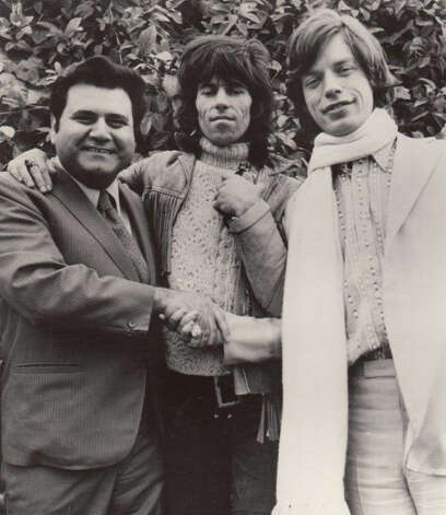 From left, Pete Bennett, Keith Richards and Mick Jaggar in Hollywood Hills just prior to a concert in Los Angeles in the 1960s. Pete Bennett, a record promoter who worked with The Rolling Stones and The Beatles, and helped launch the careers of countless artists, including Aerosmith front man Steven Tyler, died Thursday of a heart attack at his home in Greenwich. He was 77. Photo courtesy of Peter Bennett Enterprises Photo: Contributed Photo