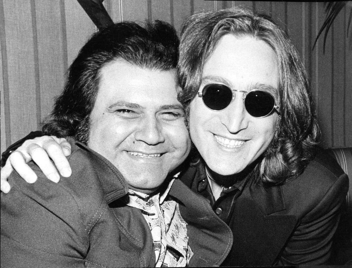Pete Bennett, left, with John Lennon in 1975. Pete Bennett, a record promoter who worked with The Rolling Stones and The Beatles, and helped launch the careers of countless artists, including Aerosmith front man Steven Tyler, died Thursday of a heart attack at his home in Greenwich. He was 77. Photo courtesy of Peter Bennett Enterprises