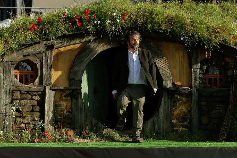 "WELLINGTON, NEW ZEALAND - NOVEMBER 28:  Director Peter Jackson emerges from from a Hobbit house before delivering a speech at the ""The Hobbit: An Unexpected Journey"" World Premiere at Embassy Theatre on November 28, 2012 in Wellington, New Zealand.  (Photo by Hagen Hopkins/Getty Images) Photo: Hagen Hopkins, Getty Images / 2012 Getty Images"