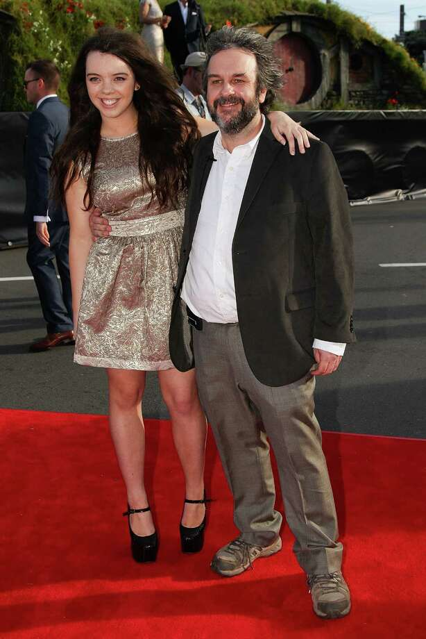"WELLINGTON, NEW ZEALAND - NOVEMBER 28:  Director Sir Peter Jackson and  daughter Katie arrive at the ""The Hobbit: An Unexpected Journey"" World Premiere at Embassy Theatre on November 28, 2012 in Wellington, New Zealand.  (Photo by Hagen Hopkins/Getty Images) Photo: Hagen Hopkins, Getty Images / 2012 Getty Images"