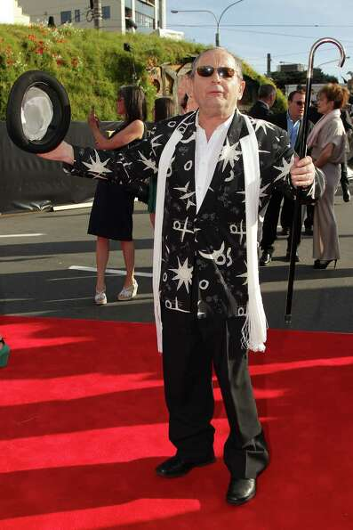 WELLINGTON, NEW ZEALAND - NOVEMBER 28:  Sylvester McCoy, who plays wizard Radagast the Brown, arrive