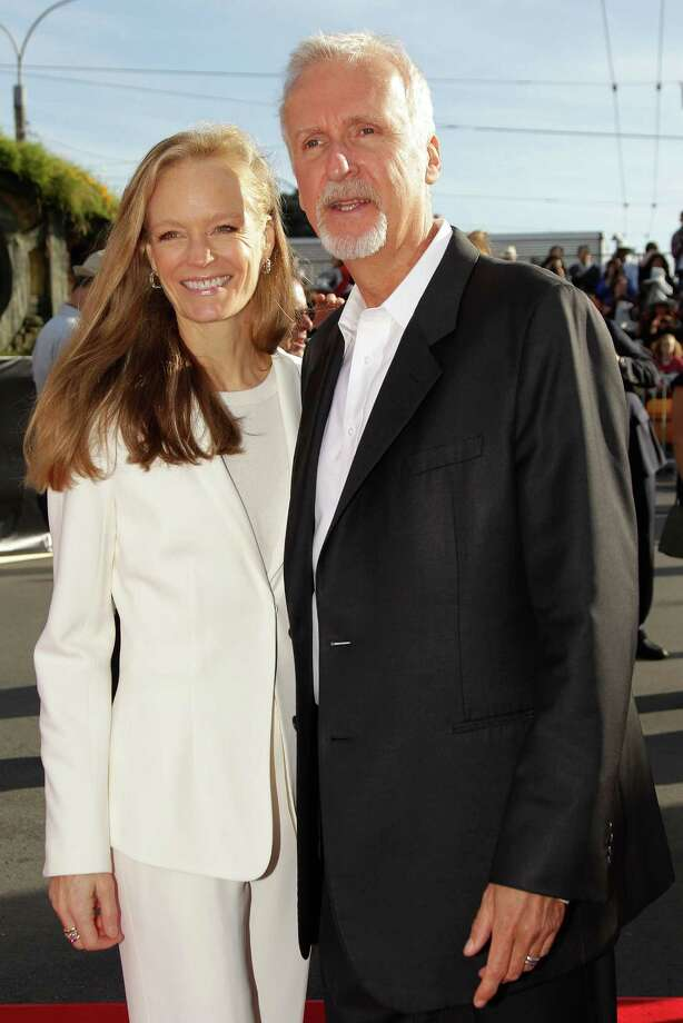 "WELLINGTON, NEW ZEALAND - NOVEMBER 28:  Film director James Cameron and wife Suzy Amis arrive at the ""The Hobbit: An Unexpected Journey"" World Premiere at Embassy Theatre on November 28, 2012 in Wellington, New Zealand.  (Photo by Hagen Hopkins/Getty Images) Photo: Hagen Hopkins, Getty Images / 2012 Getty Images"