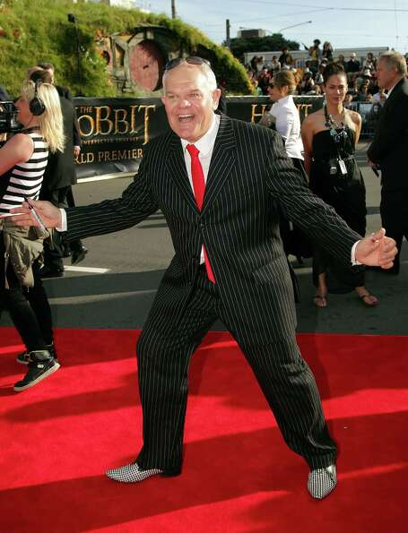 WELLINGTON, NEW ZEALAND - NOVEMBER 28:  Mark Hadlow arrives at the