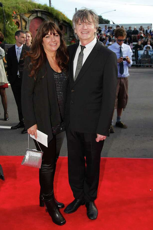 """WELLINGTON, NEW ZEALAND - NOVEMBER 28:  Musician Neil Finn and wife Sharon arrive at the """"The Hobbit: An Unexpected Journey"""" World Premiere at Embassy Theatre on November 28, 2012 in Wellington, New Zealand.  (Photo by Hagen Hopkins/Getty Images) Photo: Hagen Hopkins, Getty Images / 2012 Getty Images"""