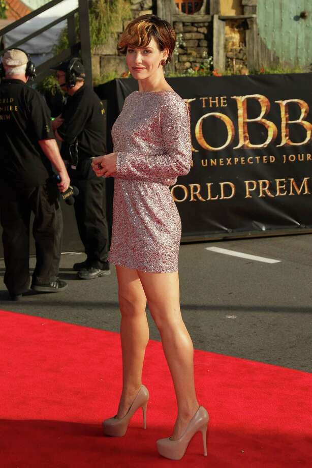 """WELLINGTON, NEW ZEALAND - NOVEMBER 28:  Evangeline Lilly arrives at the """"The Hobbit: An Unexpected Journey"""" World Premiere at Embassy Theatre on November 28, 2012 in Wellington, New Zealand.  (Photo by Hagen Hopkins/Getty Images) Photo: Hagen Hopkins, Getty Images / 2012 Getty Images"""