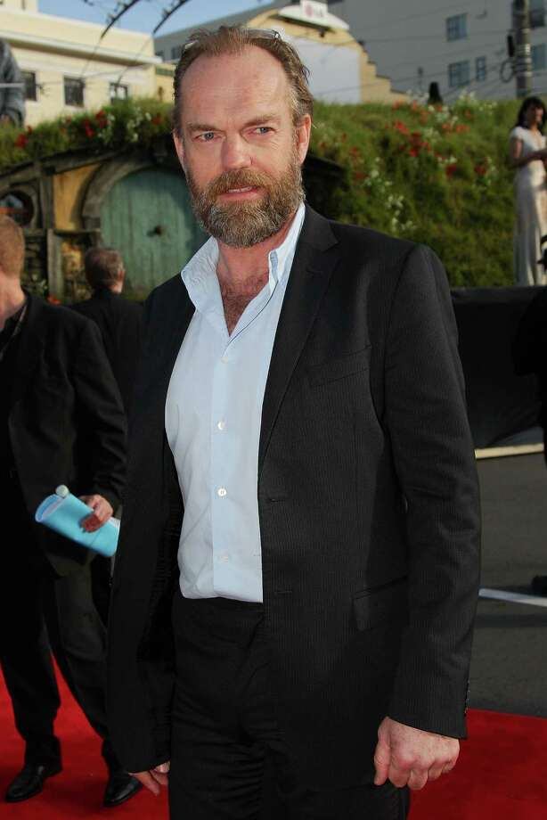 "WELLINGTON, NEW ZEALAND - NOVEMBER 28:  Hugo Weaving, who plays Elrond, arrives at the ""The Hobbit: An Unexpected Journey"" World Premiere at Embassy Theatre on November 28, 2012 in Wellington, New Zealand.  (Photo by Hagen Hopkins/Getty Images) Photo: Hagen Hopkins, Getty Images / 2012 Getty Images"