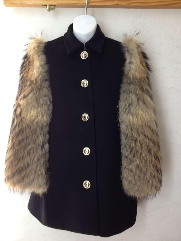Misha Nonoo raccoon fur-sleeve jacket, $1,795, at Circles in Stuyvesant Plaza in Guilderland