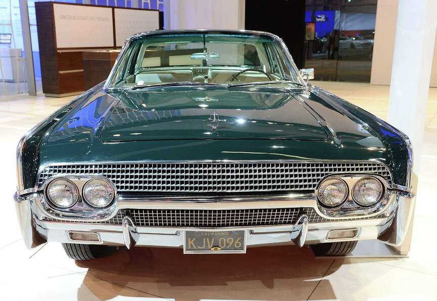 LOS ANGELES, CA - NOVEMBER 28:  1961 Lincoln Continental Sedan appears as part of Lincoln's Heritage