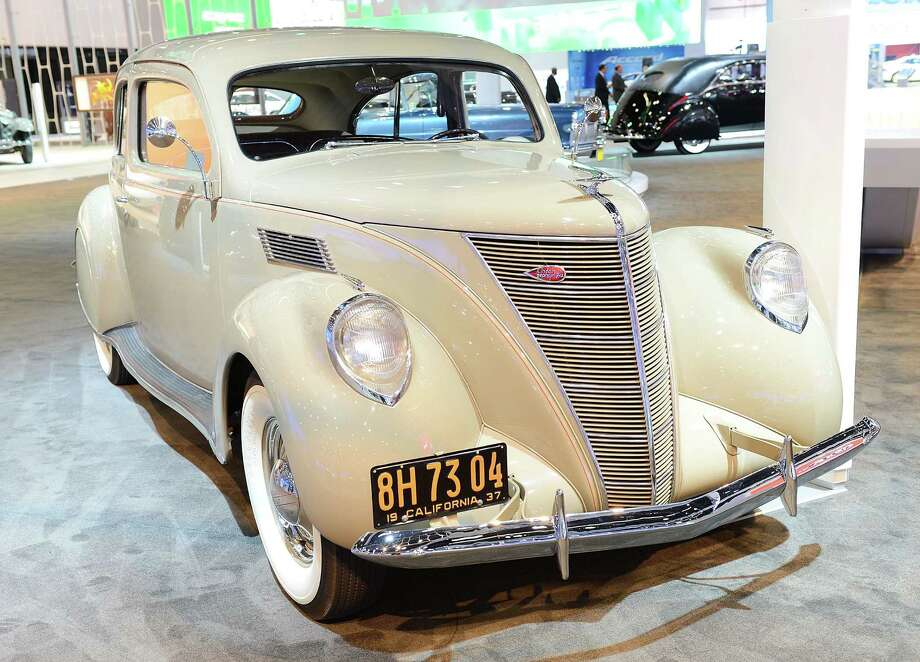 LOS ANGELES, CA - NOVEMBER 28:  1937 Lincoln-Zephyr Coupe-Sedan appears as part of Lincoln's Heritage On Display At Los Angeles Auto Show Press Day at Los Angeles Convention Center on November 28, 2012 in Los Angeles, California. Photo: Michael Kovac, Getty Images For Lincoln / 2012 Getty Images
