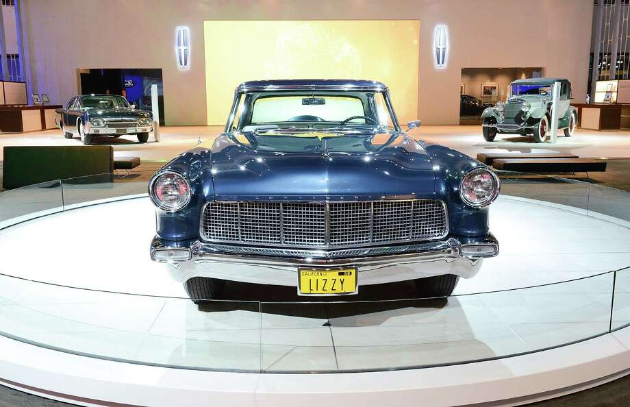 LOS ANGELES, CA - NOVEMBER 28:  1956 Continental Mark II (center) appears as part of Lincoln's Heritage On Display At Los Angeles Auto Show Press Day at Los Angeles Convention Center on November 28, 2012 in Los Angeles, California. Photo: Michael Kovac, Getty Images For Lincoln / 2012 Getty Images