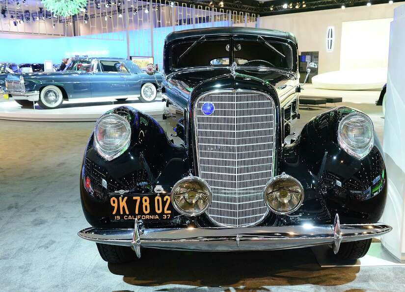 LOS ANGELES, CA - NOVEMBER 28:  1937 Lincoln Derham Sport Sedan appears as part of Lincoln's Heritag