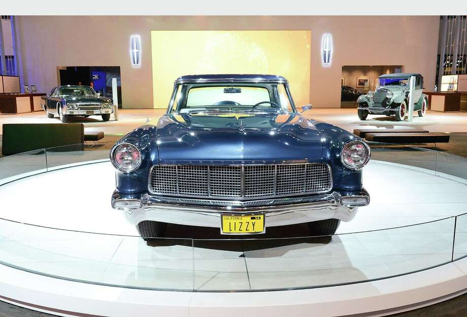 1956 Continental Mark II (center) as part of Lincoln's Heritage On Display At Los Angeles Auto Show Press Day at Los Angeles Convention Center on November 28, 2012 in Los Angeles, California.  (Photo by Michael Kovac/Getty Images for Lincoln).  (PRNewsFoto/Lincoln) Photo: Associated Press / LINCOLN