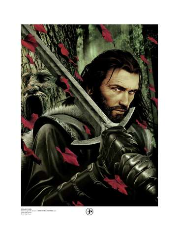'A Song of Ice and Fire' limited edition print of Eddard Stark by San Antonio artist John Picacio. The print is from the 2012 'A Song of Ice and Fire' Calendar, which Picacio illustrated. For local gift guide of fantasy/sci-fi items with San Antonio-connected geek talents. Photo: Handout