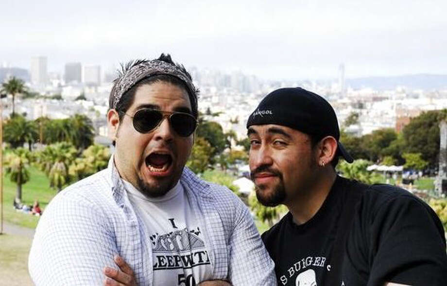 San Antonio comedy duo Regan Arevalos, left, and Larry Garza, who also make up part of Comedia A Go-Go, will headline at the Laugh Out Loud Comedy Club at 8 p.m. Thursday. Photo: Courtesy Photo
