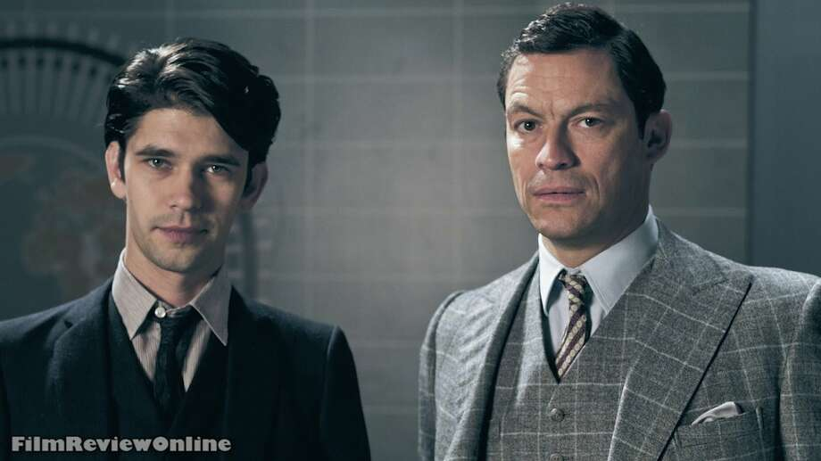 Freddie (Ben Whishaw) is made news co-host with Hector (Dominic West) and tempers flare. (Joe Martin, BBC)