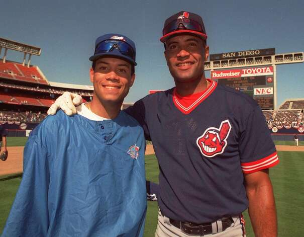 Sandy Alomar Jr. (right) (Douglas Pizac / Associated Press)