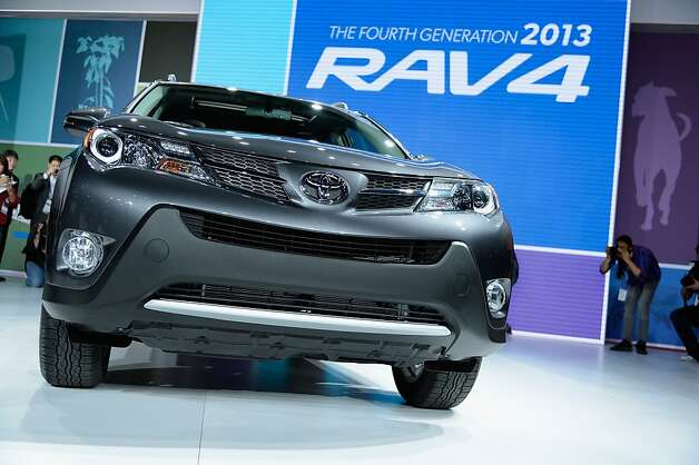 It's a favorite in the picking-up-groceries set: the Toyota RAV4. The auto show runs from Wednesday to Sunday with $10 admission for everyone 13 and older. Photo: Kevork Djansezian, Getty Images
