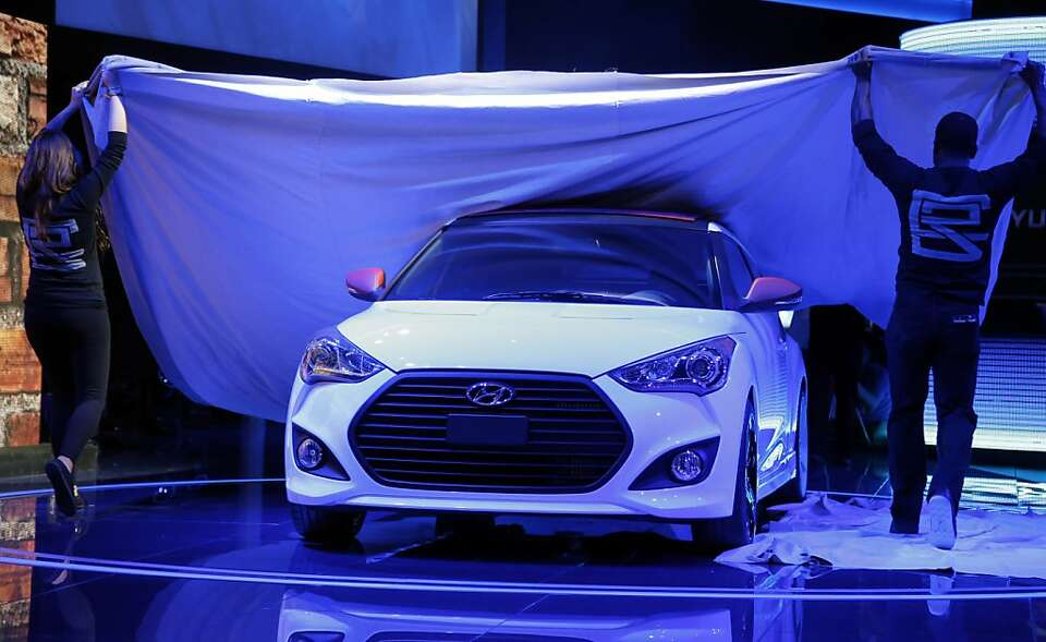 The Hyundai Veloster C3 concept is unveiled at the LA Auto Show in Los Angeles, Wednesday, Nov. 28,