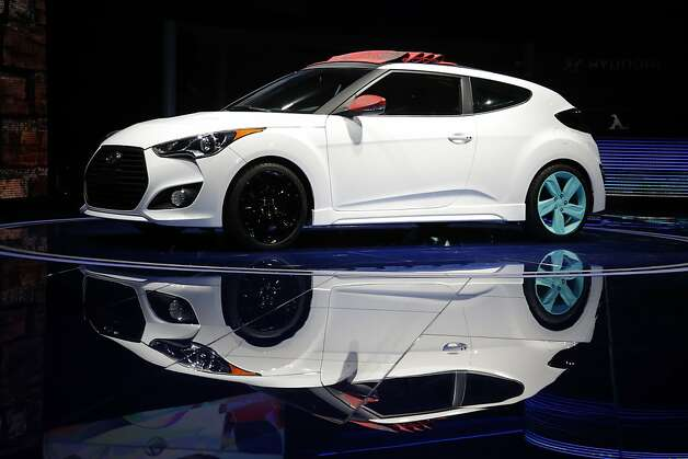 The Hyundai Veloster C3 concept is unveiled at the LA Auto Show in Los Angeles, Wednesday, Nov. 28, 2012. The annual Los Angeles Auto Show opened to the media Wednesday at the Los Angeles Convention Center. The show opens to the public on Friday, November 30. Photo: Jae C. Hong, Associated Press