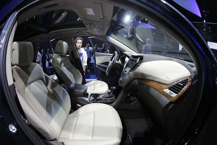 Hyundai Santa Fe is shown during its world debut at the LA Auto Show in Los Angeles, Wednesday, Nov. 28, 2012. The annual Los Angeles Auto Show opened to the media Wednesday at the Los Angeles Convention Center. The show opens to the public on Friday, November 30. Photo: Chris Carlson, Associated Press