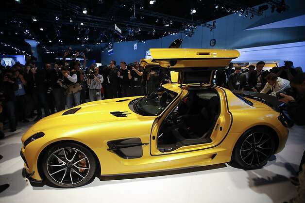 The Mercedes-Benz SLS AMG GT is unveiled at the LA Auto Show in Los Angeles, Wednesday, Nov. 28, 2012. The annual Los Angeles Auto Show opened to the media Wednesday at the Los Angeles Convention Center. The show opens to the public on Friday, November 30. Photo: Jae C. Hong, Associated Press