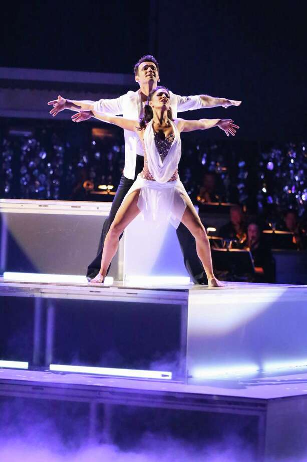 This Monday, Nov. 26, 2012 publicity photo provided by ABC, shows Tony Dovolani and Melissa Rycroft in âÄúDancing with the Stars: All-StarsâÄù - Episode 1510, as a competing couple in a Super-Sized Freestyle one-hour performance in which they were allowed to add extra performers, to incorporate all kinds of lifts and tricks to create an out-of-this-world entertaining routine on the ABC Television Network. Rycroft is a finalist for the âÄúDancing with the StarsâÄù Mirror Ball Trophy on the ABC TV show Tuesday, Nov. 27, 2012. Photo: Adam Taylor, (AP Photo/ABC, Adam Taylor) Asso / Associated Press