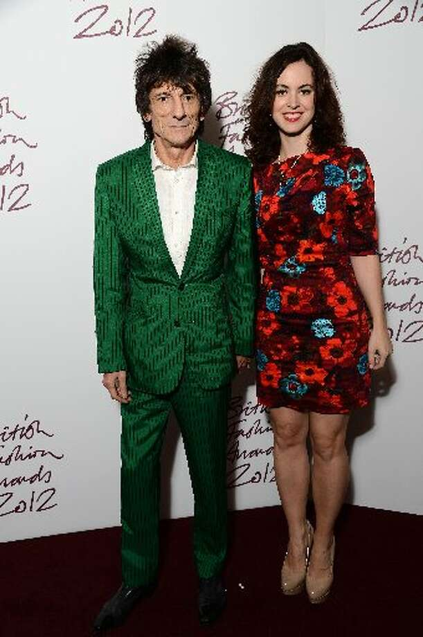 Ronnie Wood and Sally Humphries attend the British Fashion Awards 2012 at The Savoy Hotel on November 27, 2012 in London, England. (Photo by Ian Gavan/Getty Images) (Getty)