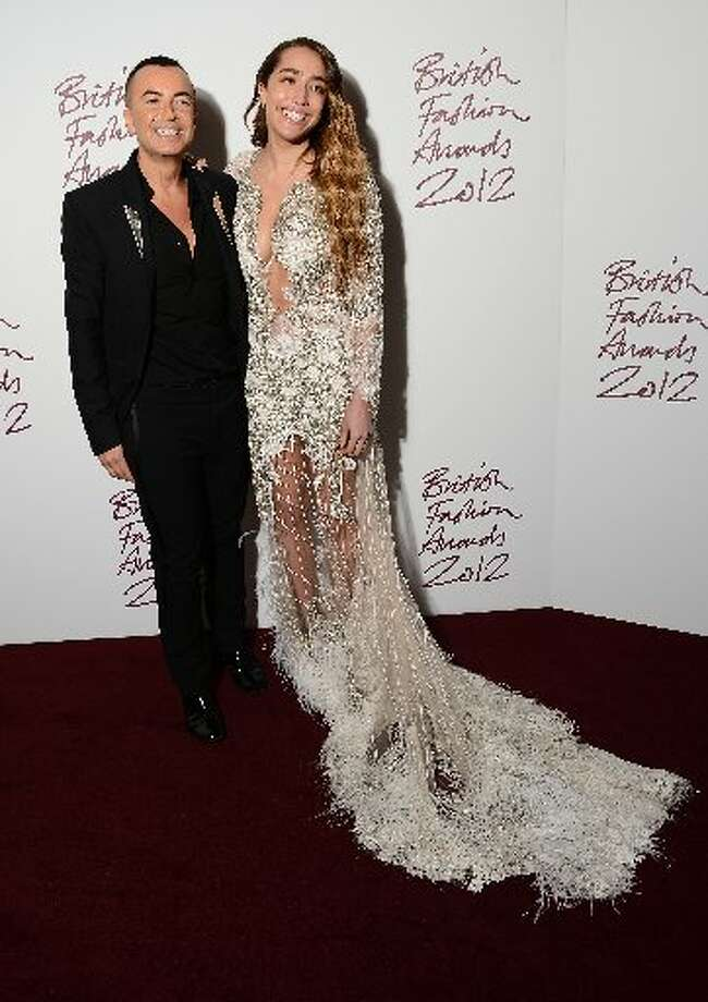 Delilah and Julien Macdonald attend the British Fashion Awards 2012 at The Savoy Hotel on November 27, 2012 in London, England. (Photo by Ian Gavan/Getty Images) (Getty)