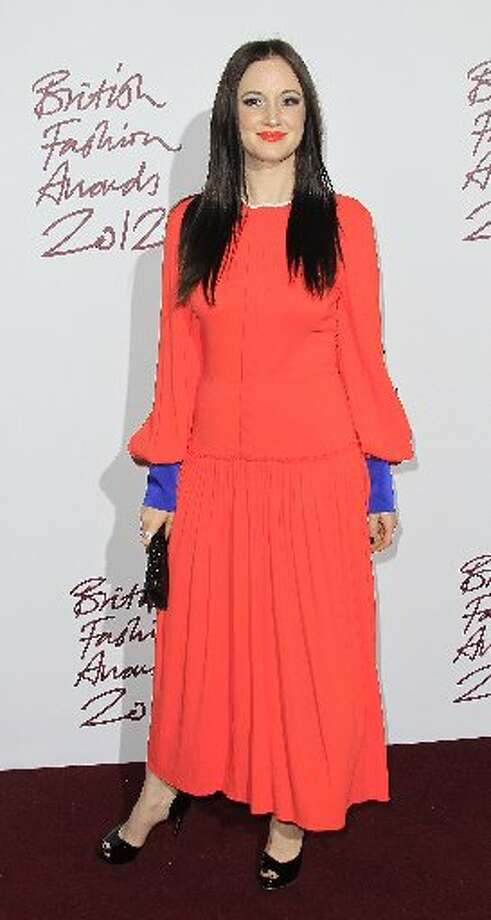 Andrea Riseborough arrives for the British Fashion Awards at the Savoy Hotel in central London, Tuesday Nov. 27, 2012. (Photo by Joel Ryan/Invision/AP) (AP)