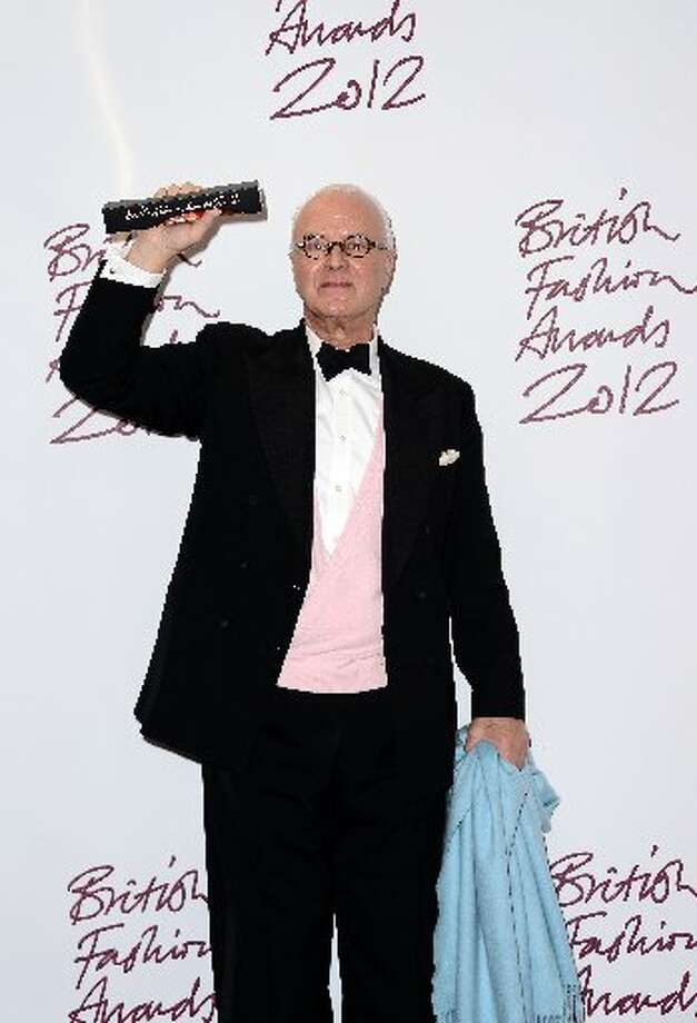 Manolo Blahnik, winner of the Outstanding Achievement in Fashion poses in the awards room at the British Fashion Awards 2012 at The Savoy Hotel on November 27, 2012 in London, England. (Photo by Ian Gavan/Getty Images) (Getty)