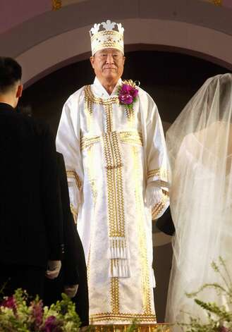 Sun Myung Moon, 92, died Sept. 3. Moon founded the Unification Church. (Photo by YOUN JAE-WOOK/AFP/Getty Images) Photo: YOUN JAE-WOOK, AFP/Getty Images / AFP
