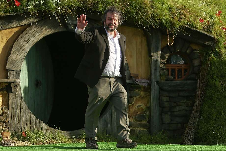 Director Sir Peter Jackson emerges from from a Hobbit house before delivering a speech at the The Hobbit: An Unexpected Journey World Premiere at Embassy Theatre on November 28, 2012 in Wellington, New Zealand.  (Photo by Hagen Hopkins/Getty Images) Photo: Hagen Hopkins, Getty Images / 2012 Getty Images