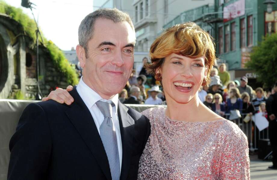 Cast members James Nesbitt who plays Bofur, left, and Canadian actress Evangeline Lilly pose on the red carpet at the premiere of The Hobbit: An Unexpected Journey, at the Embassy Theatre, in Wellington, New Zealand, Wednesday, Nov. 28, 2012. (AP Photo/SNPA, Ross Setford) Photo: Ross Setford, Associated Press / SNPA