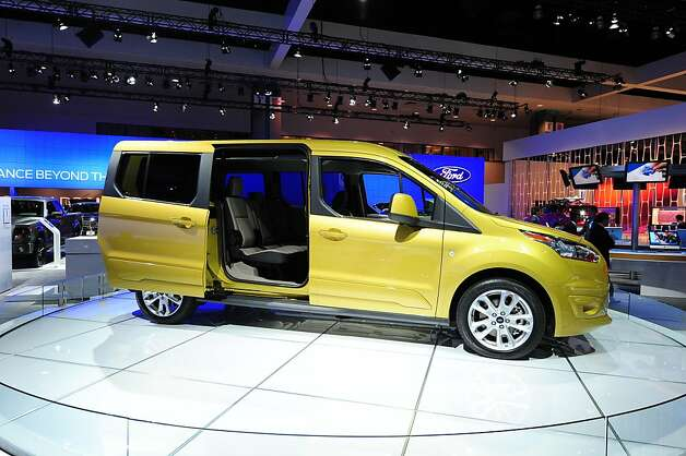 The new seven-passenger Ford Transit Connect Wagon is on display at the 2012 Los Angeles Auto Show in Los Angeles on media preview day, November 28, 2012.   The LA Auto Show will open to the public on November 30 and runs through December 9. Photo: Robyn Beck, AFP/Getty Images