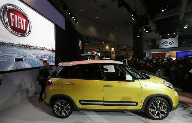 The Fiat 500L is shown at the LA Auto Show in Los Angeles, Wednesday, Nov. 28, 2012. The annual Los Angeles Auto Show opened to the media Wednesday at the Los Angeles Convention Center. The show opens to the public on Friday, November 30. Photo: Chris Carlson, Associated Press
