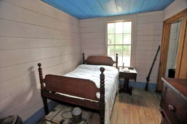 The second room you enter is this Bedroom of John Jr. French. He was seven years old when the family moved in. In the corner rests a vintage rifle from somewhere between 1845-1865. The John Jay French Museum, which is the oldest fully restored standing two story home in Beaumont, was built in 1845, has seven rooms, and takes about an hour to tour.  Dave Ryan/The Enterprise