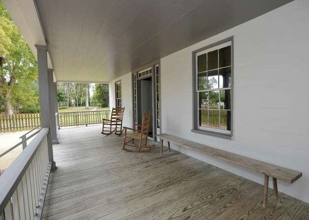 The family used the covered porch as one way to get to the kitchen and dining area. Take a tour of the John Jay French Museum the oldest fully restored standing two story home in Beaumont, where you can see the grounds and home of the French family as it would have been in Beaumont in the mid-1800's.   Dave Ryan/The Enterprise