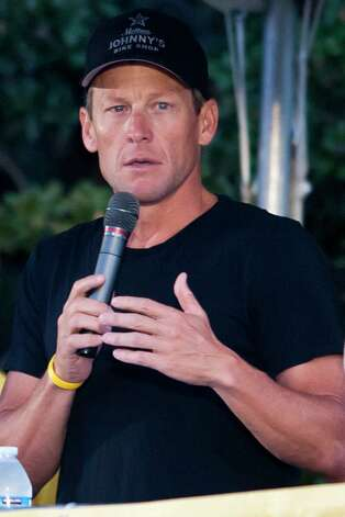 Not a Tour de France winner anymore. Lance Armstrong. (Photo by Cooper Neill/Getty Images) Photo: Cooper Neill, Getty Images / 2012 Getty Images