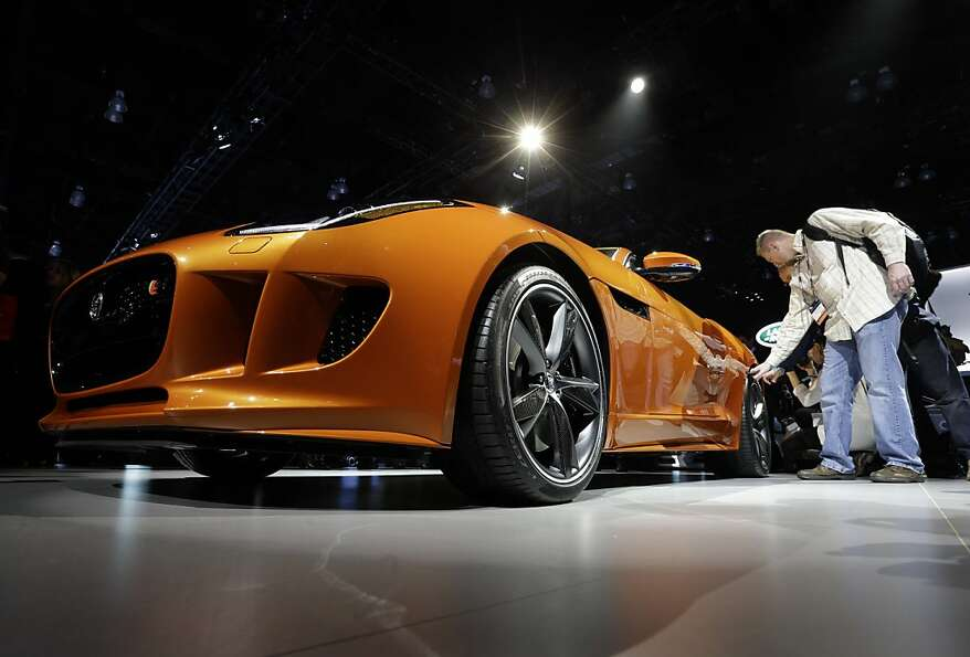 Jaguar F-TYPE is shown during its North American debut at the LA Auto Show in Los Angeles, Wednesday