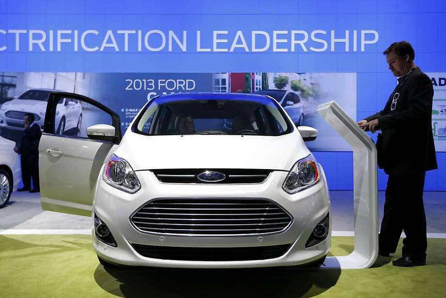 The Ford C-Max hybrid is revealed at the LA Auto Show in Los Angeles, Wednesday, Nov. 28, 2012. The annual Los Angeles Auto Show opened to the media Wednesday at the Los Angeles Convention Center. The show opens to the public on Friday, November 30. Photo: Jae C. Hong, Associated Press