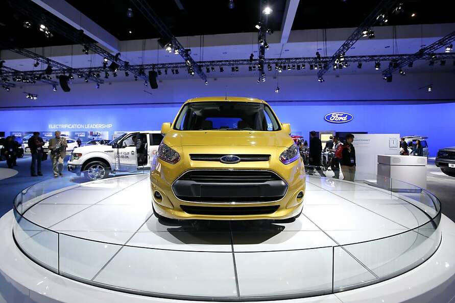 The new Ford Transit Connect van is shown at the LA Auto Show in Los Angeles, Wednesday, Nov. 28, 20